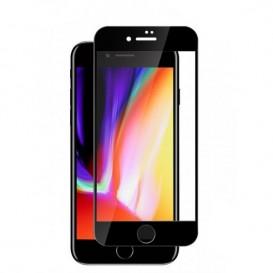 Verre trempé avec bords noirs pour iPhone 8 Plus