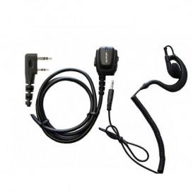 Micro-oreillette ergonomique Kenwood 2 pins avec crochet