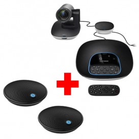 Pack Logitech Group + 2 micros d'extentions