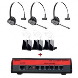 Pack Miniligateam 6 + 3 casques sans-fil Plantronics CS540