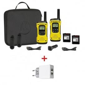 Motorola T92 + chargeur secteur double USB
