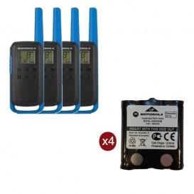 Pack de 4 Motorola T62 Bleu + Batteries de rechange