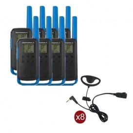 Pack de 8 Motorola T62 Bleu + Contour d'oreilles