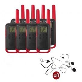 Pack de 8 Motorola T62 Rouge + Micro casque