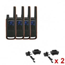 Pack de 4 Motorola TLKR T82 + 4 socles de charges