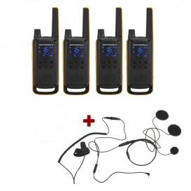 Pack de 4 Motorola Talkabout T82 Extreme + Micro casque