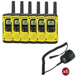 Pack de 6 Motorola T92 + Micros haut-parleurs déportés