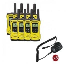 Pack de 8 Motorola T92 + Micros haut-parleurs déportés
