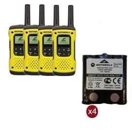 Pack de 4 Motorola T92 + Batteries de rechange