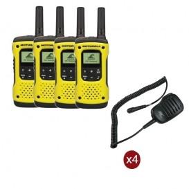 Pack de 4 Motorola T92 + Micros haut-parleurs déportés