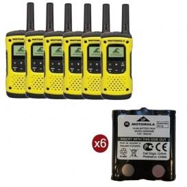 Pack de 6 Motorola T92 + Batteries de rechange
