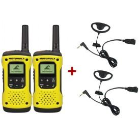 Pack de 2 Motorola T92 + 2 Kits Contours d'oreille