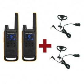 Pack de 2 Motorola Talkabout T82 Extreme + Kit Earloop