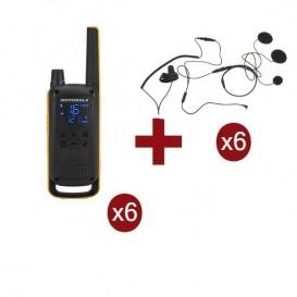 Pack de 6 Motorola Talkabout T82 Extreme + Micro casque