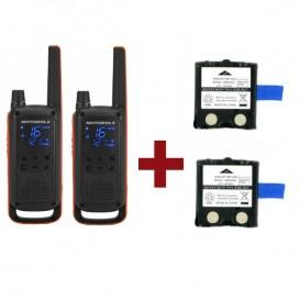 Pack de 2 Motorola Talkabout T82 + Batteries de rechange