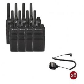 Pack de 8 Motorola XT420 + Micros haut-parleurs déportés