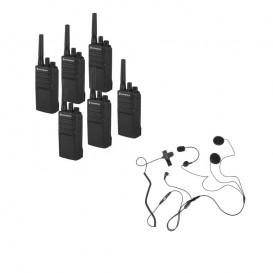 Pack de 6 Motorola XT420 + Micro casque