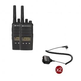 Pack de 2 Motorola XT460 + Micros haut-parleurs déportés