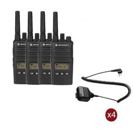 Pack de 4 Motorola XT460 + Micros haut-parleurs déportés