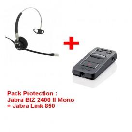 Pack Protection : Jabra BIZ 2400 II Mono + Jabra Link 850
