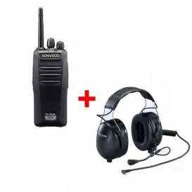 Pack antibruit : Kenwood TK-3401D + casque antibruit Peltor Headset Flex (câble inclus)