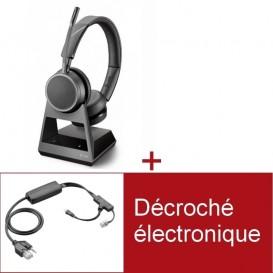 Pack Plantronics Voyager 4220 Office MS USB-C pour téléphone Poly