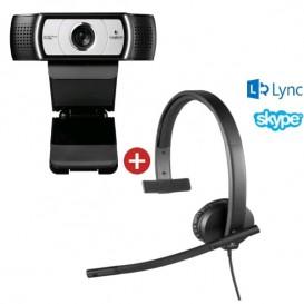 Pack vidéo conférence Logitech H570E mono + Caméra Logitech C930E