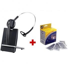 Pack Sennheiser D10 Phone + lingettes désinfectantes