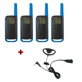 Pack de 4 Motorola T62 Bleu + Contour d'oreilles
