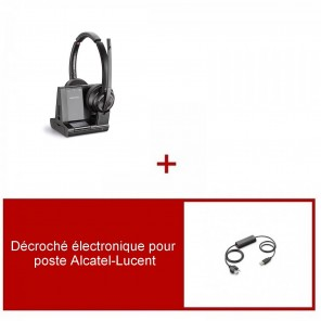 Pack casque Plantronics Savi 8220 UC Duo pour Alcatel