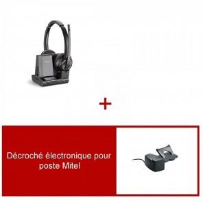 Pack casque Plantronics Savi 8220 UC Duo pour Mitel