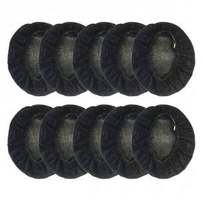 Lot de 10 charlottes hygiéniques noires pour casques