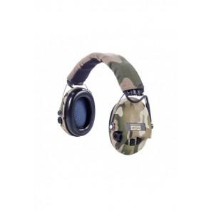 MSA Supreme Pro-X camouflage - serre-tête, coussinets gel & LED