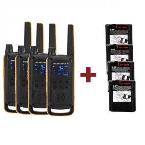 Pack Motorola T82 Extreme Quad + Batteries de rechange puissantes