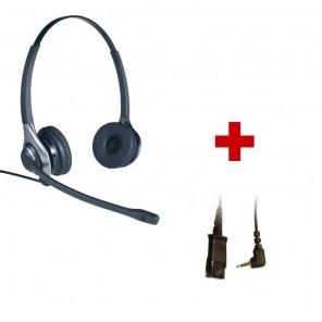 HC 45 + Cordon QD Jack 2.5mm pour Cisco Spa et Panasonic