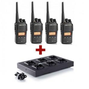 Pack de 4 Midland G18 + Chargeur multiple C1251