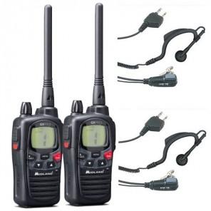 Pack DUO : Talkies-walkies Midland G9 Pro + Kit oreillettes offerts