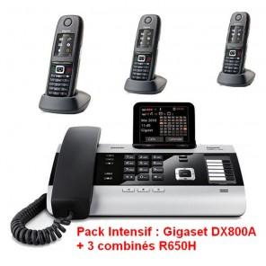 Pack Intensif : Gigaset DX800A + 3 combinés R650H
