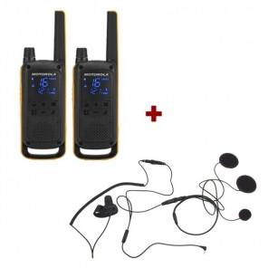 Pack de 2 Motorola Talkabout T82 + Micro casque