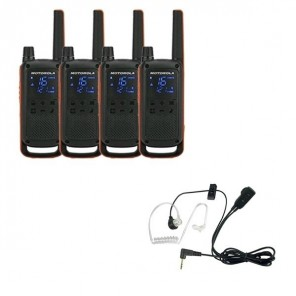Pack de 4 Motorola Talkabout T82  + Kit Bodyguard
