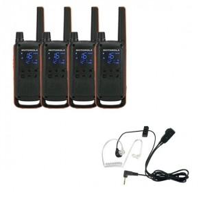Pack de 4 Motorola Talkabout T82  + Kit Bodyguard
