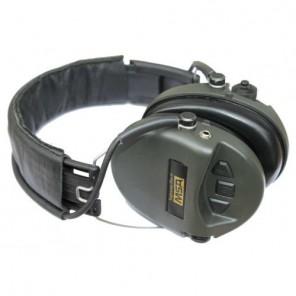 Casque anti-bruit MSA Supreme Pro-X vert avec serre-tête textile noir