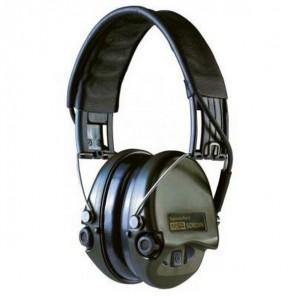 Casque anti-bruit MSA Supreme Pro-X vert avec serre-tête cuir noir