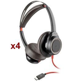 Pack Plantronics - Blackwire 7225 USB-C - Noir