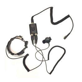 Oreillette laryngophone version Motorola 2 pins