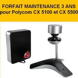 Forfait maintenance 3 ans Polycom CX 5100 et 5500