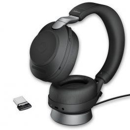 Jabra - Evolve2 85 UC Duo Noir USB-C avec base