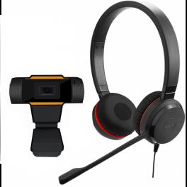 Pack Jabra Evolve 30 II USB UC MS Duo + Webcam