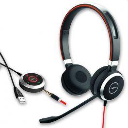 Jabra  Evolve 40 UC Duo Jack et USB-A