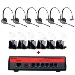 Pack Miniligateam 6 + 6 casques sans-fil Plantronics CS540
